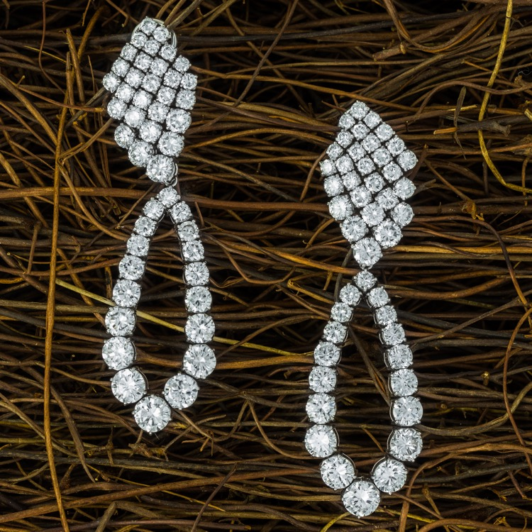 Platinum Diamond Day/Night Earrings