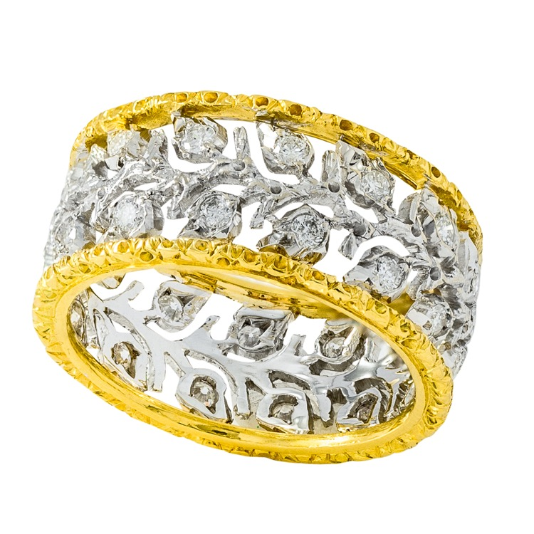 18 Karat Gold and Diamond Ramage Etermelle Ring by Buccellati