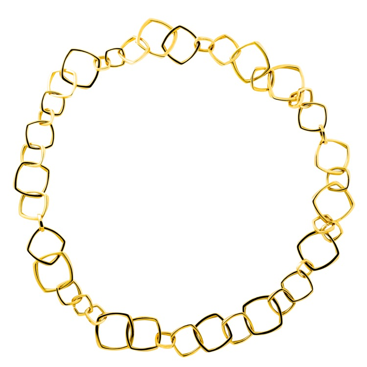 18 Karat Yellow Gold Necklace and Bracelet by Frank Gehry for Tiffany & Co