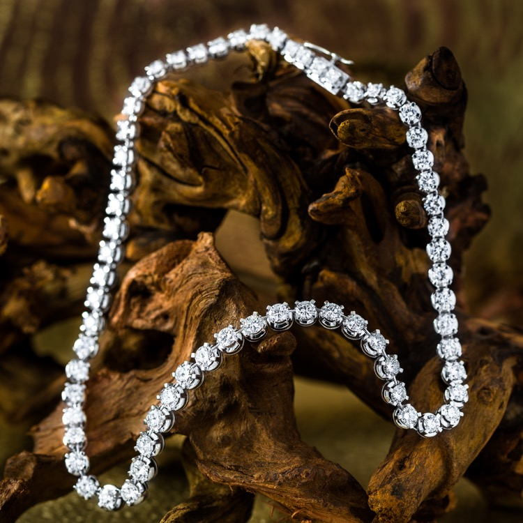 Platinum Diamond Rivière Necklace