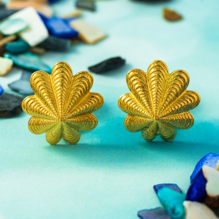 18 Karat Yellow Gold Earrings by Schlumberger for Tiffany & Co