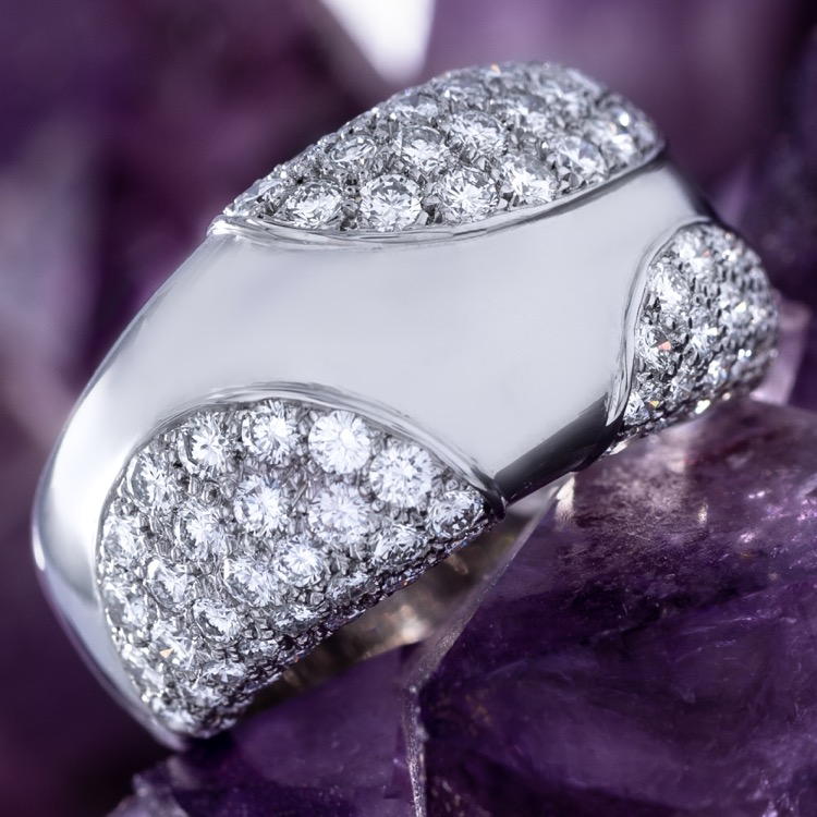 Cartier White Gold and Diamond Ring