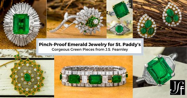 Pinch-Proof Emerald Jewelry for St. Patrick's Day