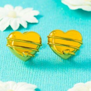 Tiffany & Co heart shaped earrings in 18 karat yellow gold