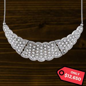 Buccellati White Gold Diamond Necklace